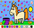 لعبة تلوين الحصان الصغير