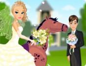 لعبة تلبيس العروسة على الحصان